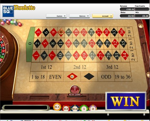 Roulette square bet