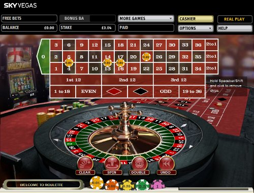 Sky Vegas Play One Pence Roulette Casino Game | 10p Roulette