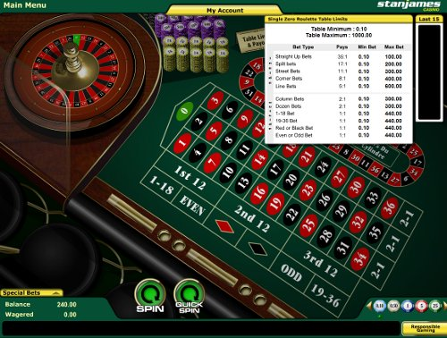Play Roulette at StanJames