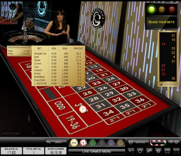 crown casino $1 roulette