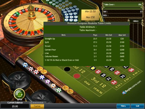 Play Roulette at Boylesport