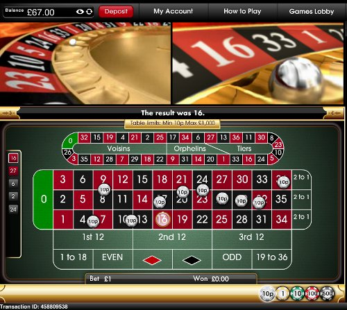 Play Roulette at Virgin Casino