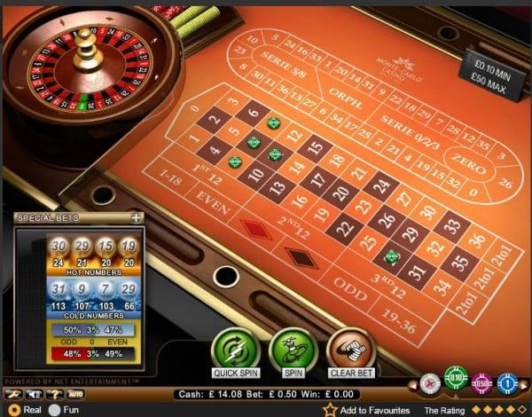 monte carlo casino roulette minimum bet